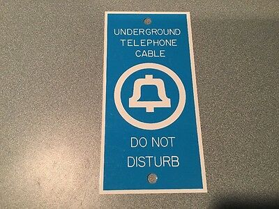 Vintage SOUTHERN BELL Telephone Underground Cable sign BELLSOUTH metal authentic