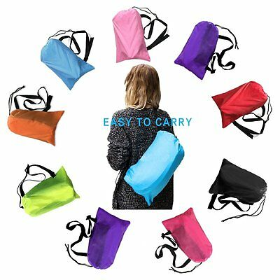 New Inflatable Air Bag Sofa Lounge Sleeping bag Camping Bed Outdoor Beach Couch