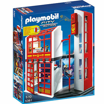 PLAYMOBIL Fire Station with Alarm - City 5361