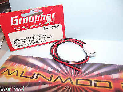 Graupner 3024/1 2 Pin Sleeve With Cable