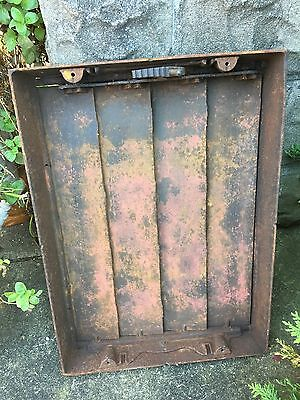 LARGE AntiqueCast Iron Louvered HeatWindow Grate Antique Garden Basement Salvage