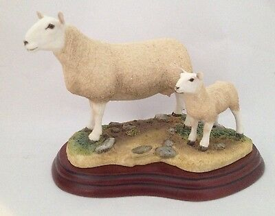 Border Fine Arts North Country Cheviot Ewe And Lamb A3228 Boxed