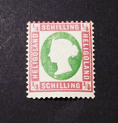HELGOLAND 1873 Stamp British Colonies #7(A4)1/4s*MLH,OG *CHOICE (H115)