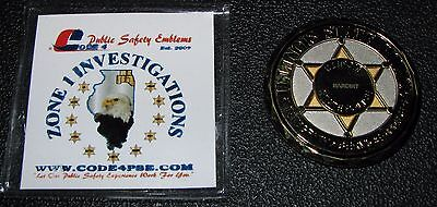 """Illinois State Police Zone 1 NARCINT Investigations  2"""" Challenge Coin"""