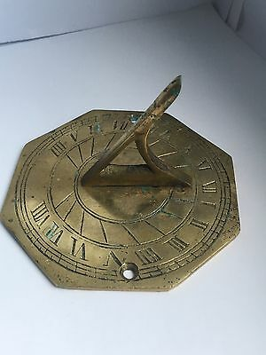 Vintage Solid Brass Sundial