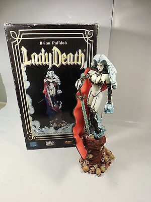 """Limited Edition Brian Pulido's Lady Death 18"""" Statue Sculpture Eternal Toys"""