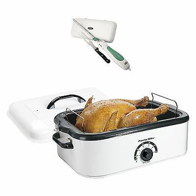 Proctor Silex 18-Quart Countertop Roaster Oven + Electric Knife with Case/Fork