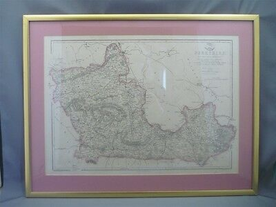 Antique Colored Map of Berkshire UK Weekly Dispatch Day & Son RR Davies1850's