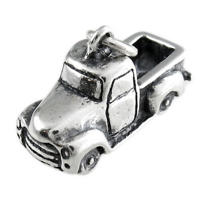 925 Sterling Silver Old 50/'s Pick-Up Truck Charm