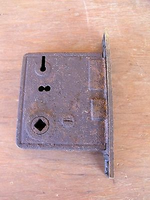 Vintage Hardware Mortise Lock  Brass Latch Plate Use Repair or Parts Re-Purpose
