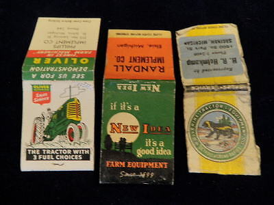 Vtg Match book Lot Farming New Look Farm Equipment Oliver Tractor Wolverine  A2