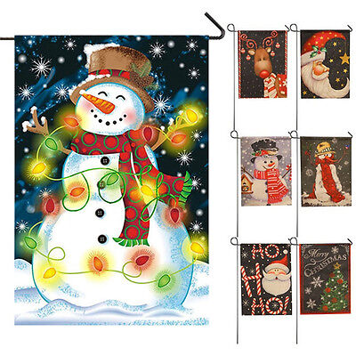 2017 New Year Christmas Party Garden Flag Indoor Outdoor Home Decoration Flag AT