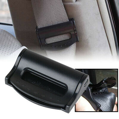 2pcs Auto Safety Seat Belt Adjuster Clip Stopper Buckle Improves Comfort