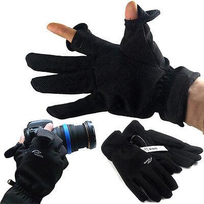 Winter Warm Men Women Photography Camera Gloves Full Finger Outdoor Sport Gloves