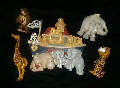 Noah's Ark Baby Nursery Room Wall Hangings Decor Set of 5