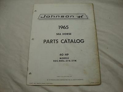 1966 JOHNSON SEA-HORSE 40 HP Model RDS-RDSL-28B Outboard Parts ... on