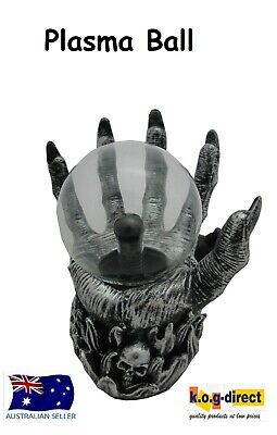 Gothic Black And Silver Claw Plasma Ball On Skulls Electric Hw-38