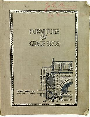.SUPER RARE COLLECTABLE c1920s GRACE BROS SYDNEY FURNITURE CATALOGUE, VERY LARGE