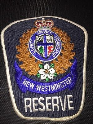 New Westminster Reserve Police Patch BC Canada