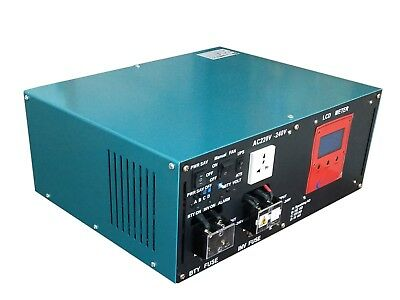 LCD 10000W LF Pure Sine Wave Power Inverter DC 24V to AC 240V, Charger/ UPS
