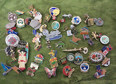 #D246.    LOT OF 60  BADGES- OLYMPIC, SHELL etc etc