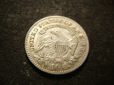 1827 XF AU Capped Bust Dime Very Nice Coin JLY