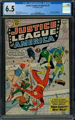 Justice League of America 5 CGC 6.5 - OW/W Pages
