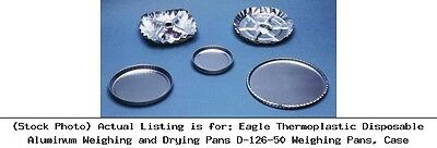 Eagle Thermoplastic Disposable Aluminum Weighing and Drying Pans D-126-50