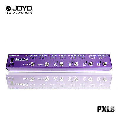 JOYO PXL8 PROGRAMABLE EFFECTS PEDAL LOOPER AND CONTROL STATION PURPLE Effects 1x