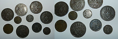 SWEDEN : 10 X OLD COINS - Mostly Iron Issues from the 1940's