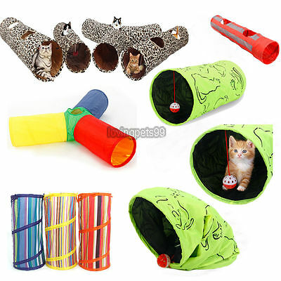 Pet Cat Tunnel Toys Outdoor Game Play Tunnel Multi Types Long Tunnel Kitten Toys