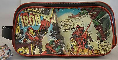 Licensed DC Comics Marvel Retro Toiletry Bag  Red Wash Bag