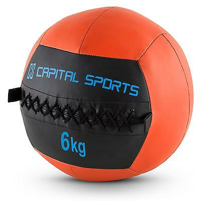 Kit 5x balles médicinales Wall Ball 6kg Training fitness cuir synthétique orange