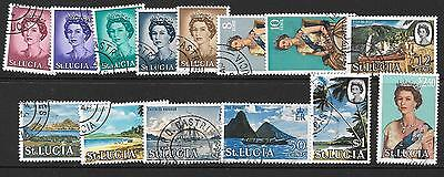 St.lucia Sg197/210 1964 Definitives Fine Used