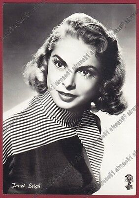JANET LEIGH 11 ATTRICE ACTRESS ACTRICE CINEMA MOVIE USA Cartolina viagg. 1957