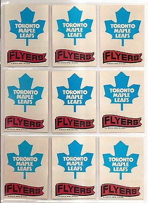 Lot of 115 1973-74 Topps hockey team logo stickers Very Clean Free S&H RARE