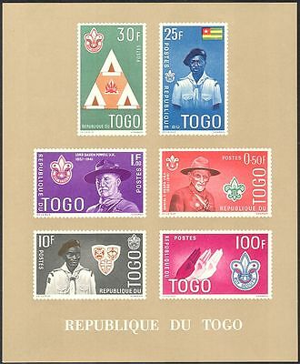 Togo 1961 Scouts/Baden Powell/Youth/Leisure/Scouting/People impf m/s (n34517a)