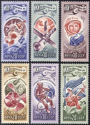 Russia 1977 Space Flight/Apollo/Soyuz/Gagarin/Vostok/Astronauts 6v set (b4679)