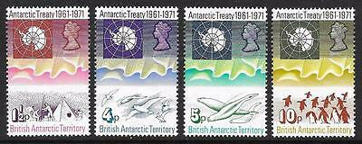 British Antarctic Territory 1971 10th Anniv. of Antarctic Treaty Set (MNH)