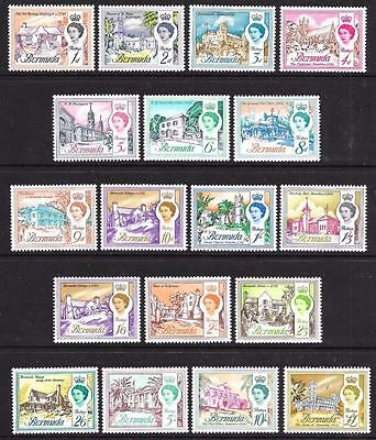 Bermuda 1962-68 Complete Set to £1 (MNH)