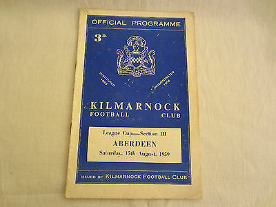 1959-60 SCOTTISH LEAGUE CUP SECTION 111 KILMARNOCK v ABERDEEN