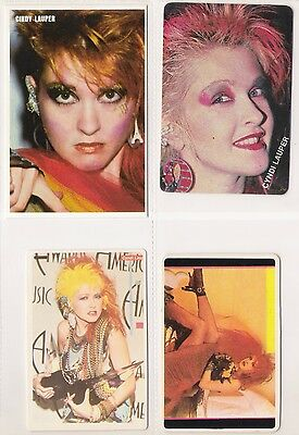 CYNDI LAUPER Lot 4 Pocket Calendars Cards Vtg 80's Set PORTUGAL Portuguese Cindy