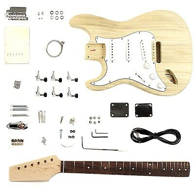 Electric Guitar DIY Kit Left Hand Strat Body - Unfinished Project Luthier