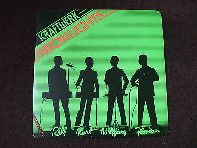 "Kraftwerk - Neon Lights Original 1978 Capitol Records 12"" Luminous Vinyl Single."