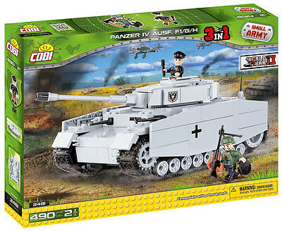 COBI 2481 - SMALL ARMY - WWII Dt. PANZER IV AUSF. F1/G/H - NEU