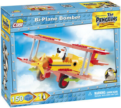 Cobi 26150 - The Penguins Of Madagascar - Bi-Plane Bomber - Neu