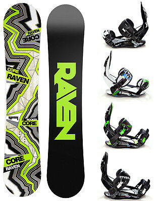 Snowboard Raven Core Carbon Rocker + Bindings Raven s250/s220 M, L or XL - New!