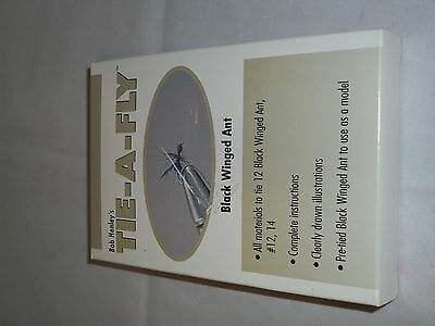 Bob Henley's Tie-a-fly Kit Black wing ant makes 12 flies with directions!