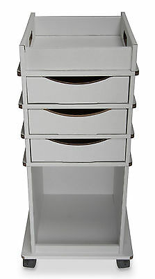 TrippNT Disposable Cart with 3 Drawers White