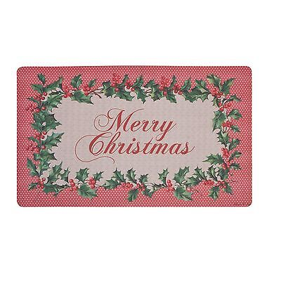 Made In Netherlands Merry Christmas Heavyweight Rubber Doormat Red 44 X 74Cm